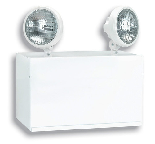 Steel Emergency Light with (2) 25W Lamps and Nickel-Cadmium Battery