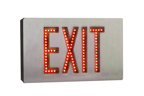 Aluminum Direct View LED Exit Sign