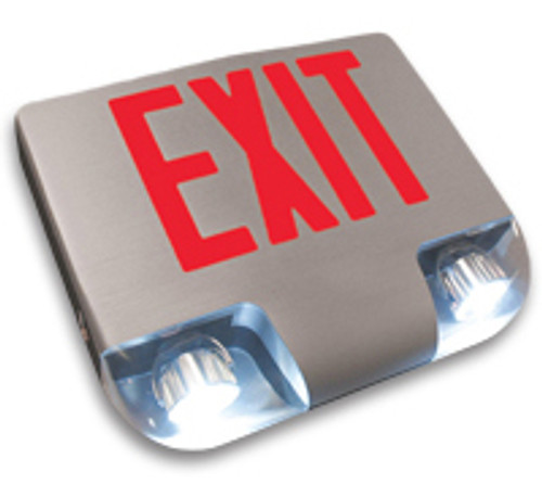 Aluminum Exit Sign Combo with Red Letters