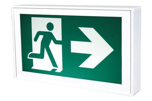Aluminum Running Man Exit Sign