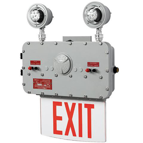 Explosion Proof Led Edge Lit Exit Sign And Emergency Light