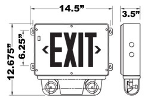 Explosion Proof Exit Sign Combo