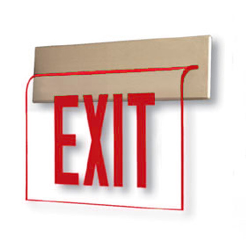 Wall Recessed Edge Lit Exit Sign