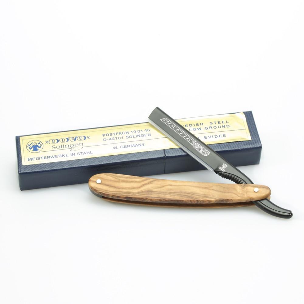 Dovo Aluminum Shavette® w/ Olive Wood Handle