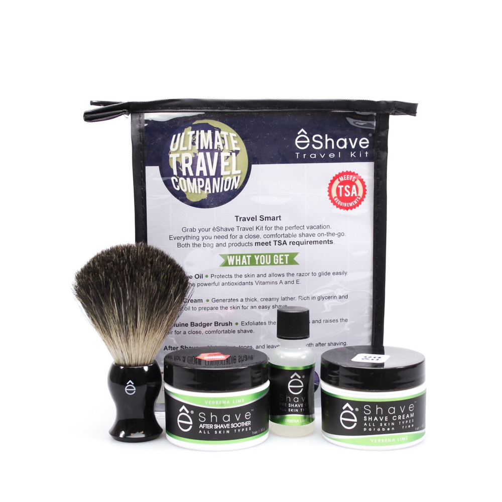 eShave Verbena Travel Shaving Kit