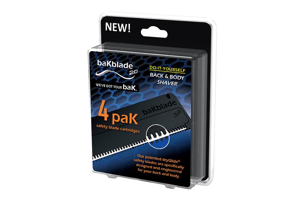 BakBlade 2.0 4 Pack Blade Cartridge