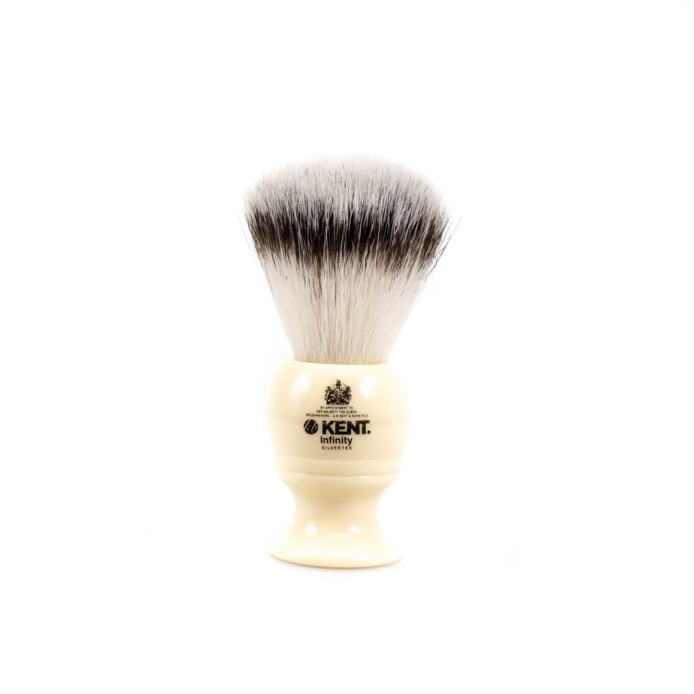 Kent Infinity Silvertex Synthetic Shave Brush