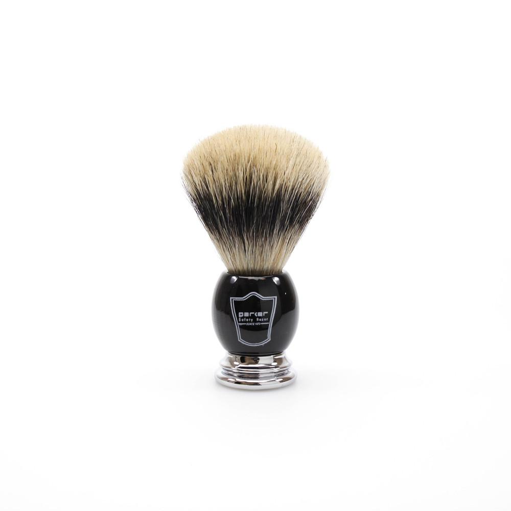 Parker Pure Badger Bristle Shaving Brush w/ Black Handle