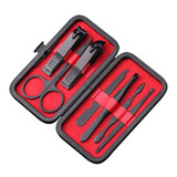 Red 7 Piece Manicure Set