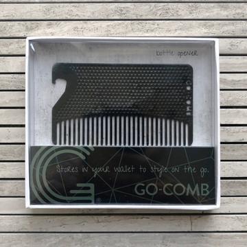 Go-Comb Matte Black Metal Bottle Opener