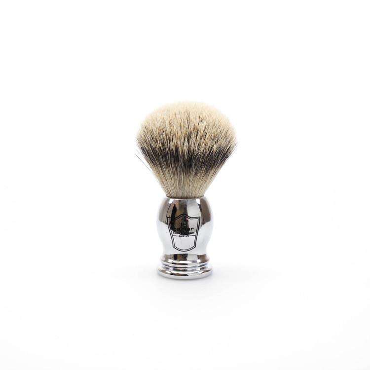 Parker Silvertip Badger Shaving Brush w/ Chrome Handle