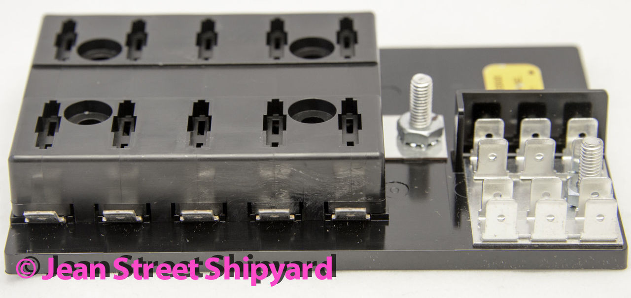 Marine Boat SFE//AG Fuse Terminal Block 4 Gang w// Ground Buss Bar