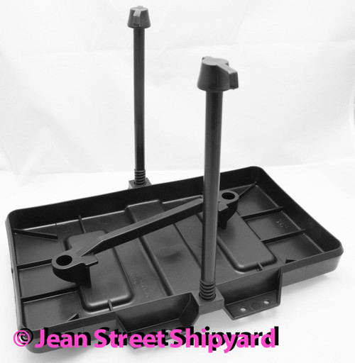 Marine Battery Hold Down Tray Non-Corroding Group 27 Adjustable Attwood 90915