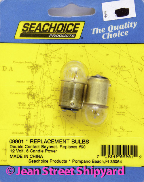 2 Pack Marine Boat RV Spare Replacement Bayonet Base Light Bulbs 7.5W GE90