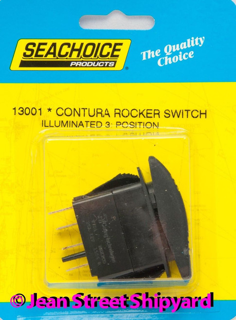 2 Position 3 Terminal Lighted Carling Contura Rocker Switch On//Off SPST 12971