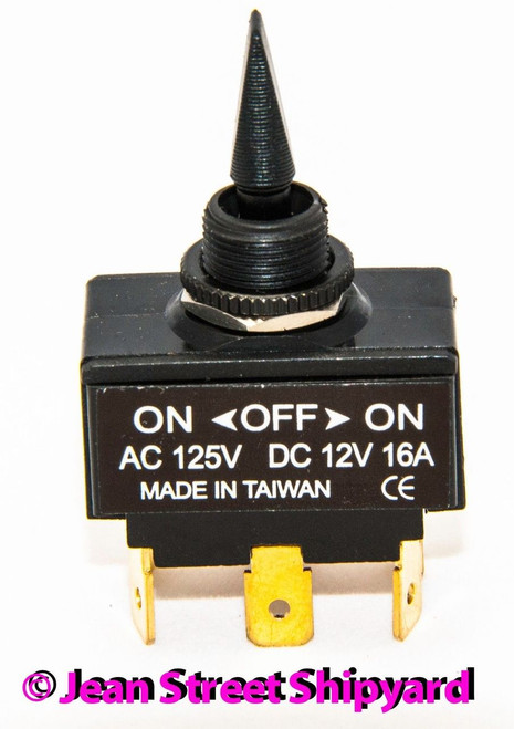 Mom On Mom On -Off- 12161 Marine Boat 3 Position Screw Momentary Toggle SPDT