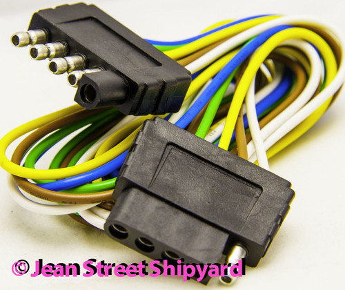 Boat Trailer Light Extension Wire Trunk 48 Inch 5 Pin Seachoice 13931