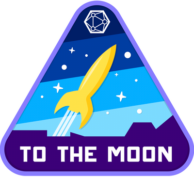 """Blue """"To the Moon"""" Sticker"""