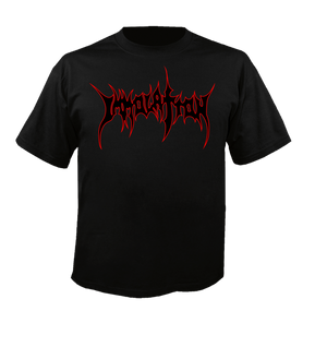 T-Shirt:  Black/Red Outline Logo