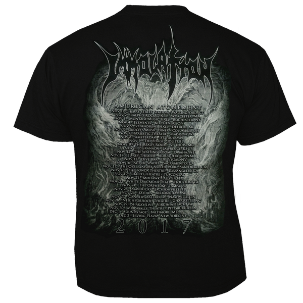 "T-Shirt:  ""Atonement - NOVEMBER 2017 US Tour"" (3X Only)"