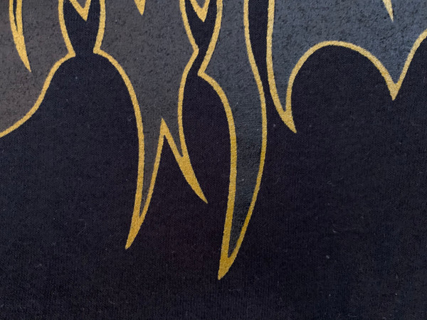T-Shirt: Black/Gold Outline Logo