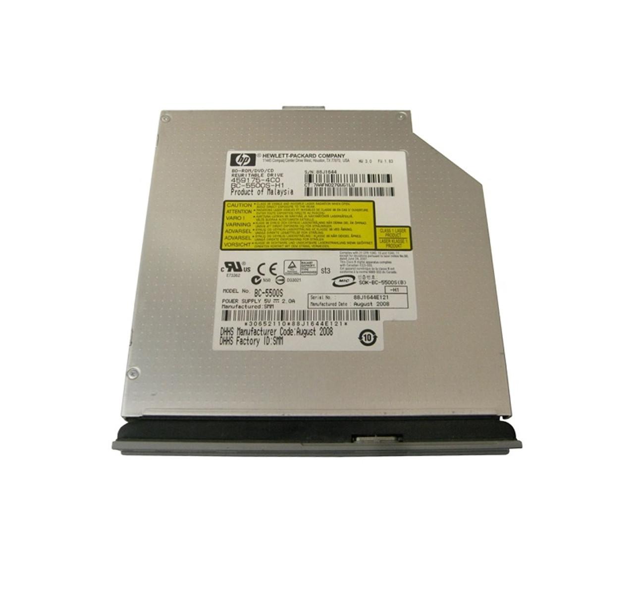 Part No: 498073-001 - HP 2x Blu-Ray Disc (BD) 8x DVD+/-RW SATA Super-Multi  Double Layer Optical Drive
