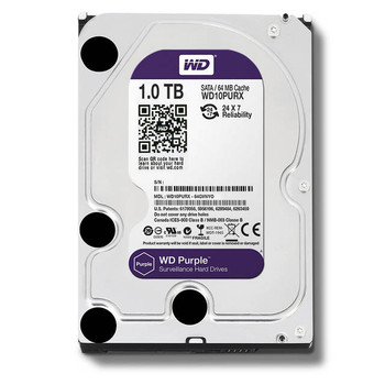 Western Digital Purple WD10PURX 1TB IntelliPower SATA3/SATA 6.0 GB/s 64MB Hard Drive (3.5 inch)