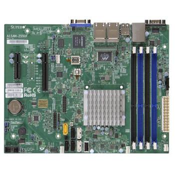 Supermicro A1SAM-2550F-B Intel Atom C2550/ DDR3/ SATA3/ V&4GbE/ MicroATX Motherboard & CPU Combo