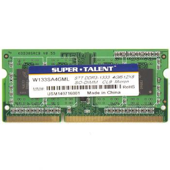 Super Talent DDR3L-1333 SODIMM 4GB/512Mx8 CL11 Micron Chip Notebook Memory