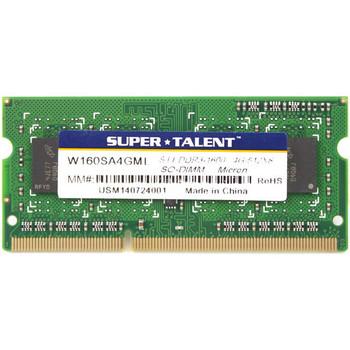 Super Talent DDR3L-1600 SODIMM 4GB/512Mx8 CL11 Micron Chip Notebook Memory