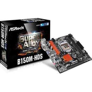 ASRock B150M-HDS LGA1151/ Intel B150/ DDR4/ SATA3&USB3.0/ A&GbE/ MicroATX Motherboard