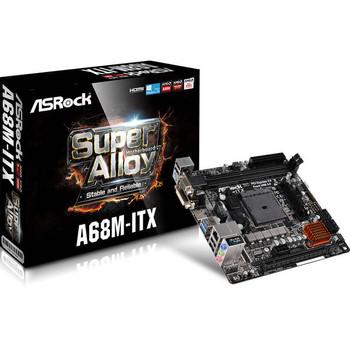 ASRock A68M-ITX Socket FM2+/ AMD A68H/ DDR3/ SATA3&USB3.0/ A&GbE/ Mini-ITX Motherboard