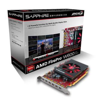 AMD FirePro W600 2GB GDDR5 6Mini DisplayPorts PCI-Express Video Card