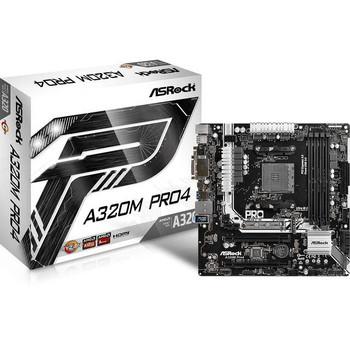 ASRock A320M PRO4 Socket AM4/ AMD A320/ DDR4/ SATA3&USB3.0/ M.2/ A&GbE/ MicroATX Motherboard