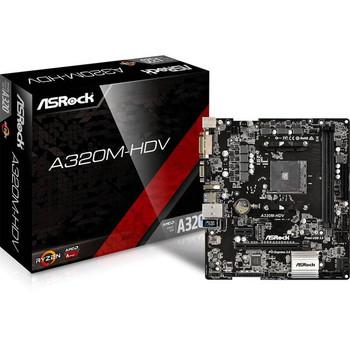 ASRock A320M-HDV Socket AM4/ AMD A320/ DDR4/ SATA3&USB3.0/ M.2/ A&GbE/ MicroATX Motherboard