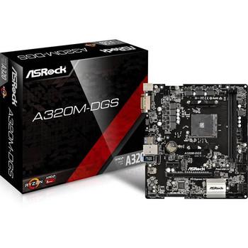 ASRock A320M-DGS Socket AM4/ AMD A320/ DDR4/ SATA3&USB3.0/ M.2/ A&GbE/ MicroATX Motherboard