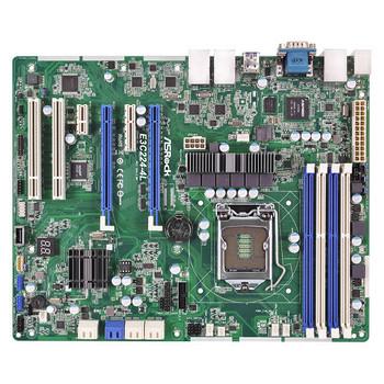 ASRock Rack E3C224-4L LGA1150/ Intel C224/ DDR3/ SATA3&USB3.0/ V&4GbE/ ATX Server Motherboard