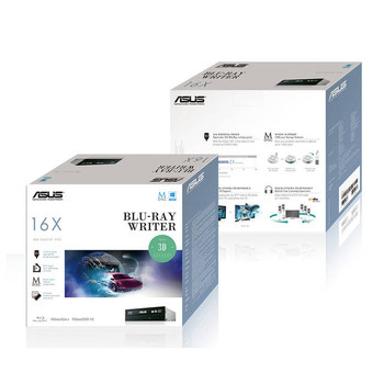 Asus BW-16D1HT 16X SATA Blu-ray Internal Writer Drive (Black),