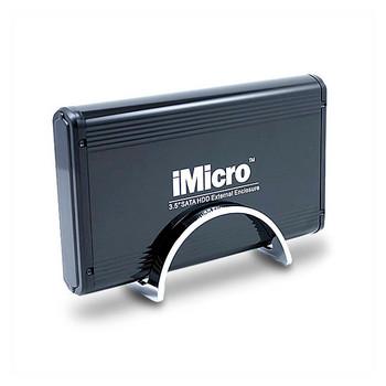 iMicro IM35SATABK 3.5 inch SATA to USB 2.0 External Hard Drive Enclosure (Black)