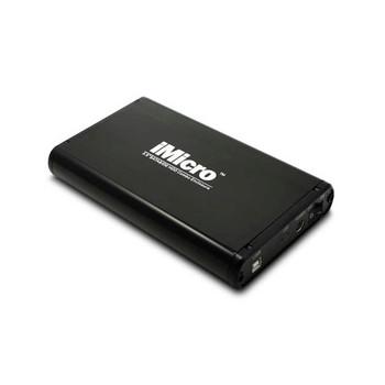 iMicro IMBS35G-BK 3.5 inch SATA & IDE to USB 2.0 External Hard Drive Enclosure (Black)