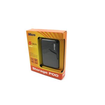 iMicro IM00169E 2.5 inch SATA to USB 3.0 External Hard Drive Enclosure (Black)