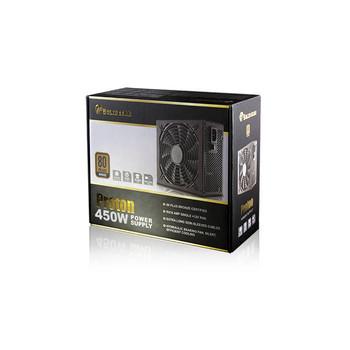 Solid Gear SDGR-450BR 450W 80 PLUS Bronze ATX12V v2.3 & EPS12V v2.91 Power Supply (Black)