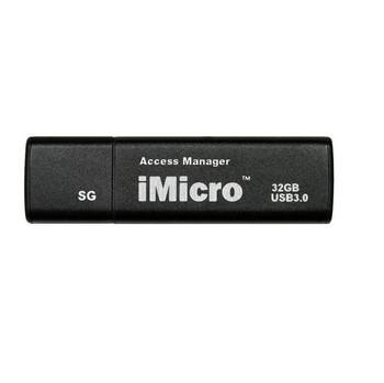 iMicro USB 3.0 Password Protection Flash Drive Sliver Grade 32GB (Black)