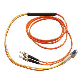 Tripp Lite N422-01M 1m 2x LC 2x ST Orange/Yellow, Black, Blue, Grey fiber optic cable