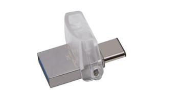 Kingston Technology DataTraveler microDuo 3C 128GB 128GB USB 3.0 (3.1 Gen 1) Capacity Capacity Silver