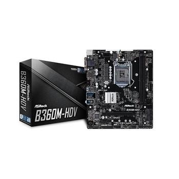 ASRock B360M-HDV LGA1151/ Intel B360/ DDR4/ Quad CrossFireX/ SATA3&USB3.1/ M.2/ A&GbE/ MicroATX Mothe