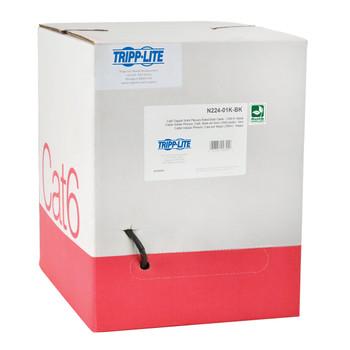 Tripp Lite N224-01K-BK 304.8m Cat6 U/UTP (UTP) Black networking cable