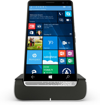 HP Elite x3 + Elite x3 Desk Dock 64GB Chrome,Graphite