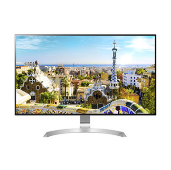 LG Electronics 32MU99-W 32 inch 5ms 2HDMI/DisplayPort/USB LED LCD Monitor, w/ Speakers(White/Silver spray)