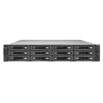 QNAP TVS-EC1280U-SAS-RP-16G-R2-US Intel Xeon E3-1245 v3/E3-1246 v3 3.4/3.5GHz/ 16GB RAM/ 6GbE/ 12SAS3/ USB3.0/ 12-Bay 2U Rackmount NAS for Enterprise